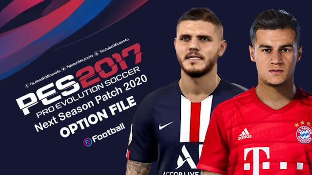 Option File cập nhật chuyển nhượng PES 2017 Next Season Patch