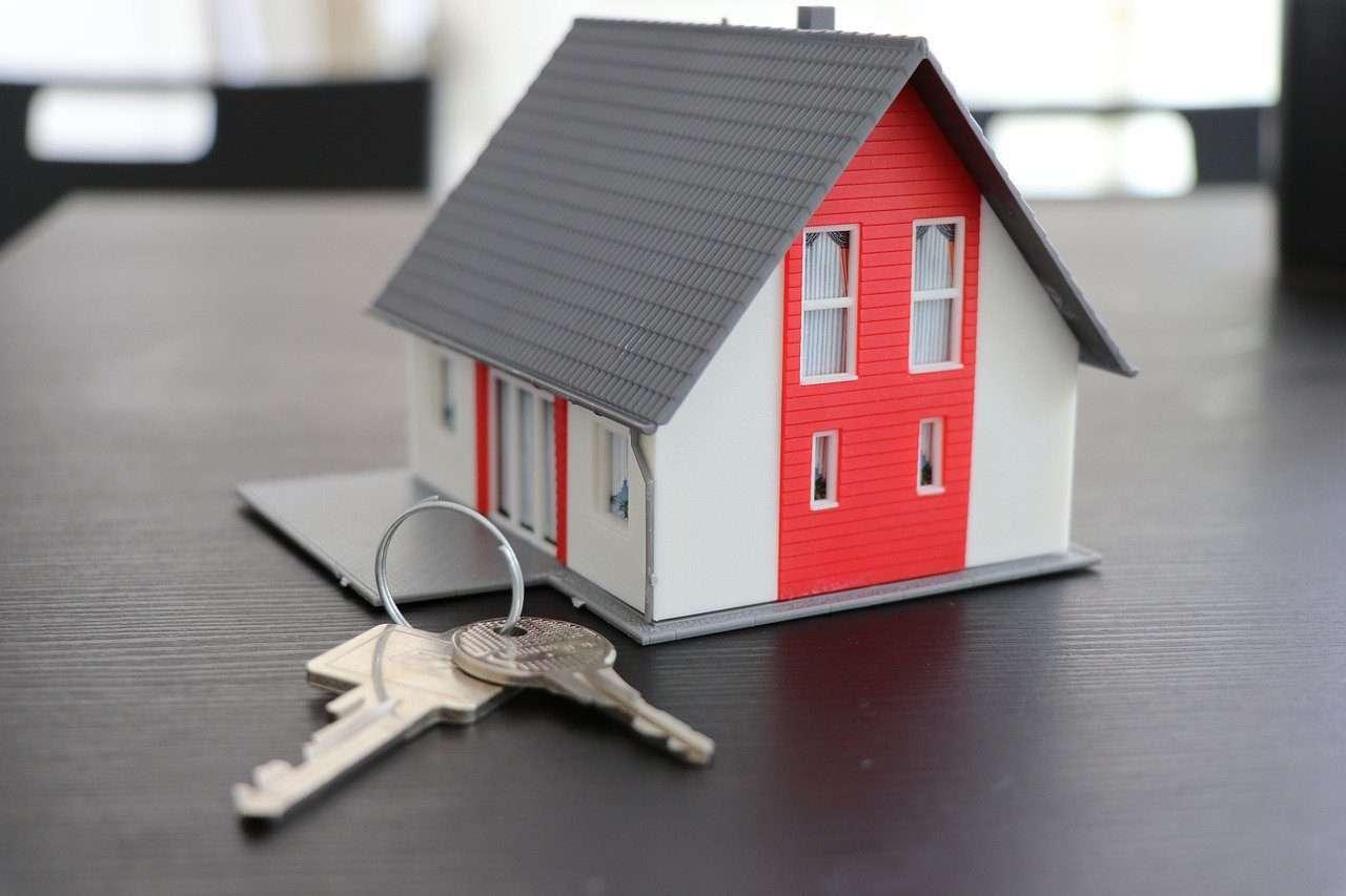 house, key, real estate