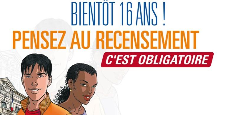 Affiche du recensement citoyen pour illustrer la page démarches administratives du site de la Mairie du Tupin et Semons tupinetsemons.fr