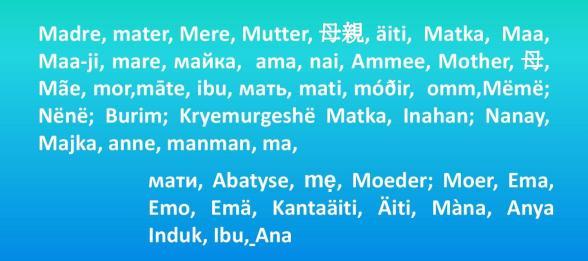 Muchos idiomas para una palabra mágica