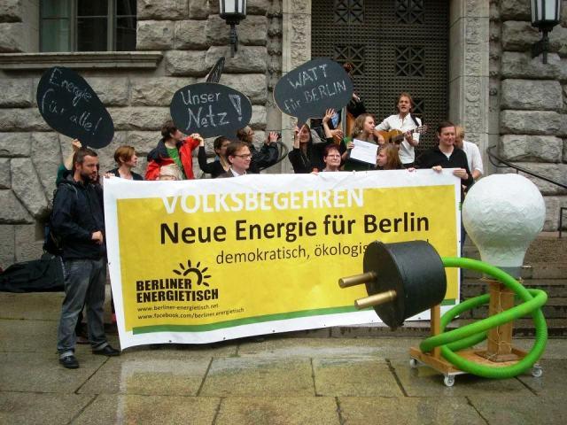 Los ciudadanos en Berlín quieren el control de su electricidad