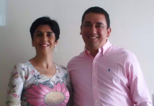Alberto Maturana, Director de LATAMNOVA con Marisela Valero