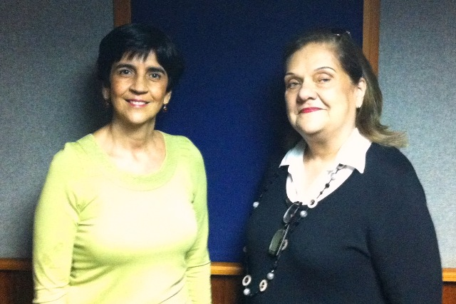 Dra.Marianela Castes con Marisela Valero. Foto Héctor Luna