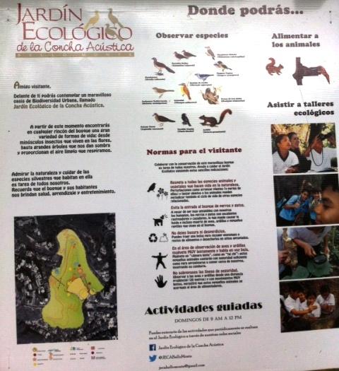 Afiche de presentación del Jardín Ecológico