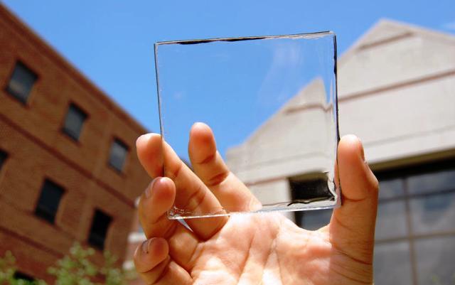 Célula fotovoltaica transparente