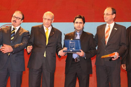 Entrega del premio del World Summit Award en El Cairo. Foto cortesía de Verdeate