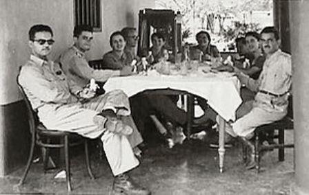 Reunión de la Sociedad de Ciencias Naturales La Salle en la Hacienda Mozanga en 1953.
