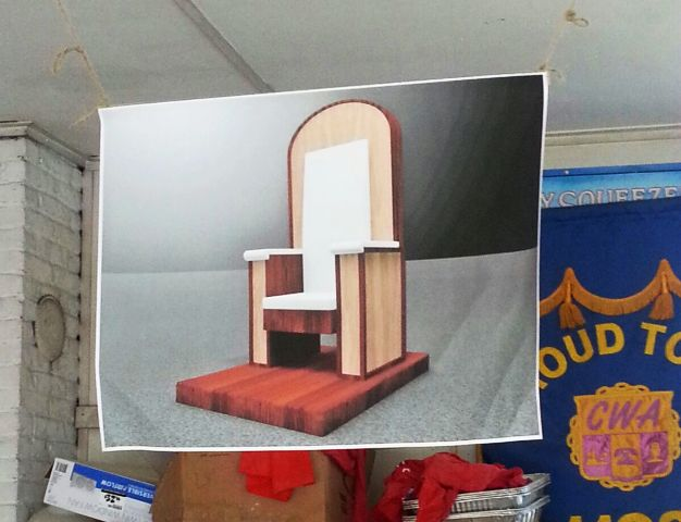 El modelo de la Silla del Papa Francisco. Foto: Mariana Lozada