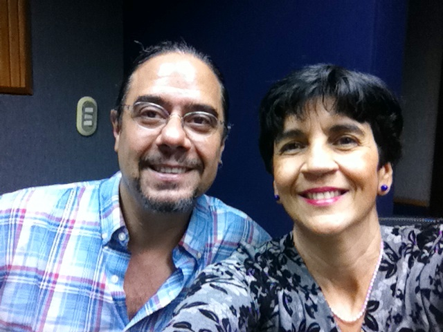 Selfie en el estudio Jon Paul con Marisela Valero.