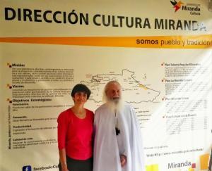 El Maestro Carlos Elías Michán con Marisela Valero. Foto Erser Sayas
