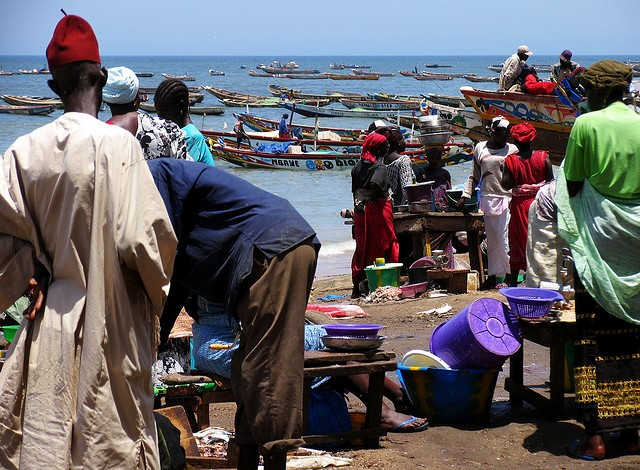 Puerto de M'bour (Senegal) Foto Sebastián Losada