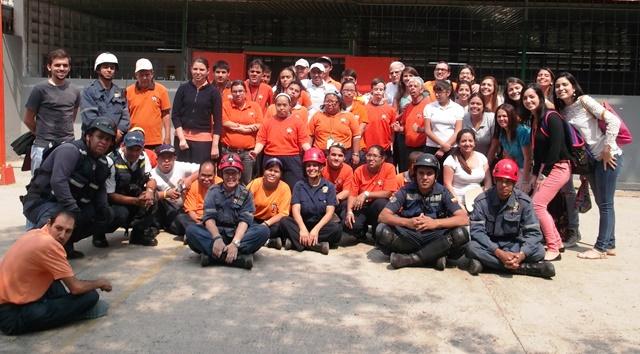 En alianza con Proteccion Civil se realizan simulacros. Foto cortesia de Luisa Paez