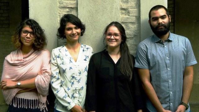 El equipo ganador, arquitectas Albamarina Silva, Silvia Uzcátegui, Génesis Loizaga y el estudiante de Economía, Francisco Ferrero