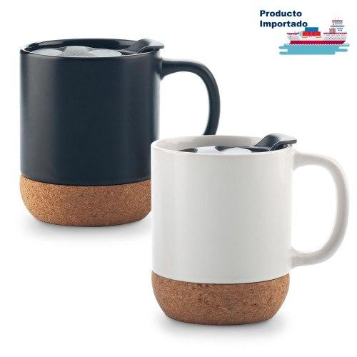 Mug Ceramica Con Corcho 11oz