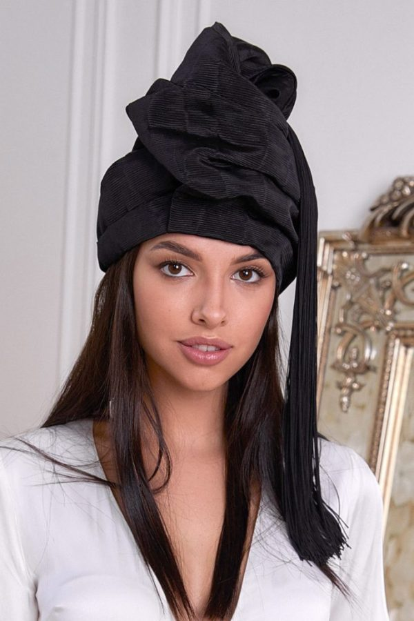 Turban hat hijab with tail