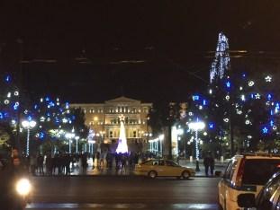 Athen bei Nacht.