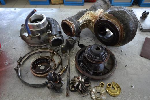 DAF 105, даф 105, ремонт турбины, 1387-970-0038