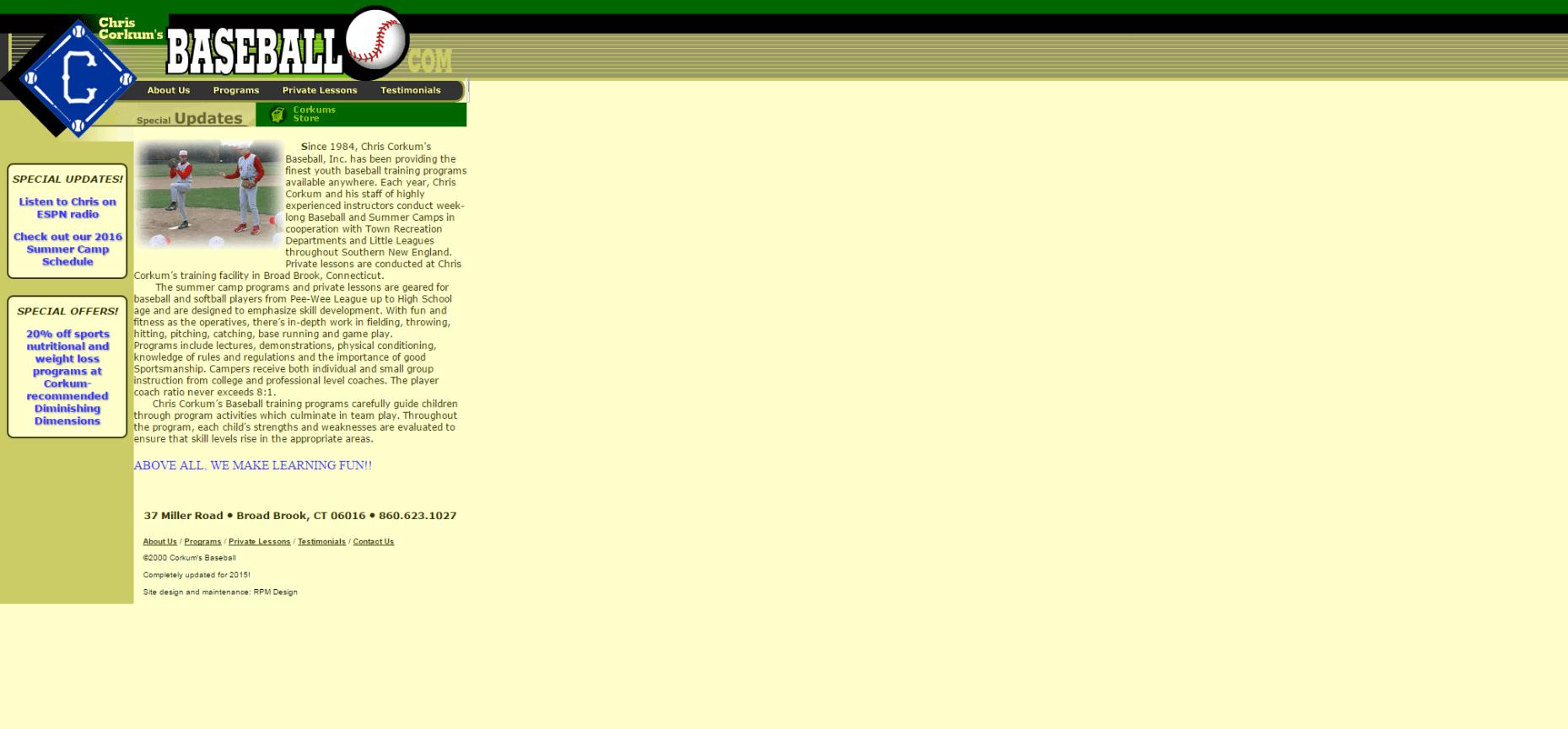 CorkumsBaseball.com