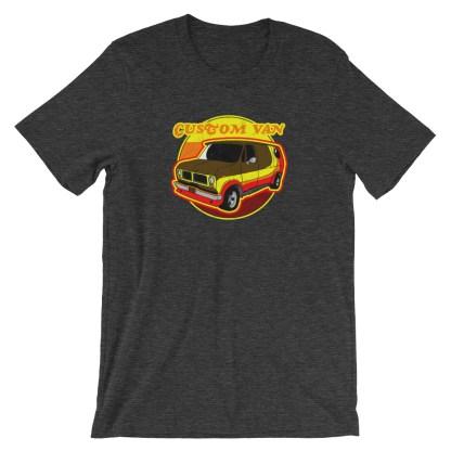 Retro 70s Custom Van T-Shirt by Turbo Volcano (Grey)