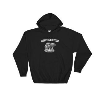 Retro Mushrooms Hoodie Vintage Mushroom Sweatshirt (black)