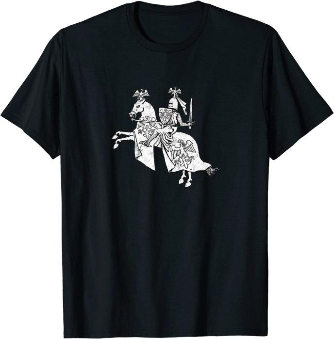 Retro Knight in Shining Armor Vintage Hero T-Shirt