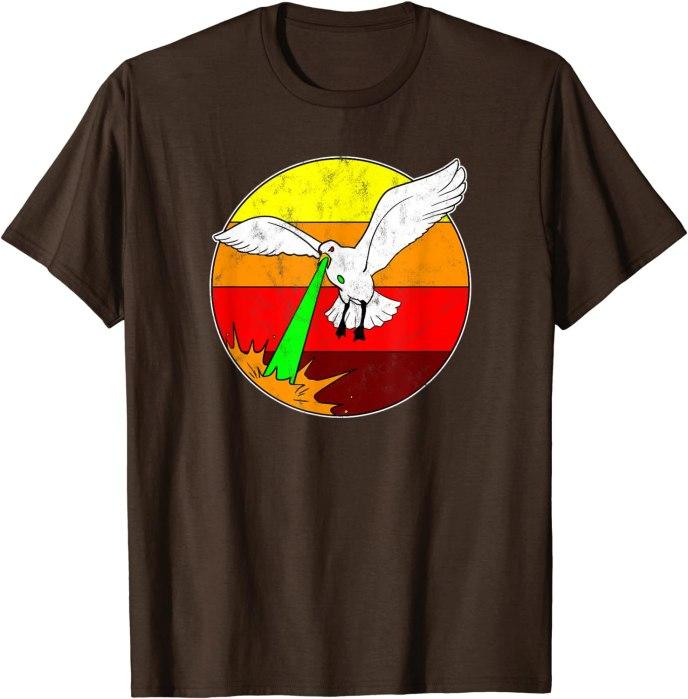 Laser Seagull 80s Retro T-Shirt