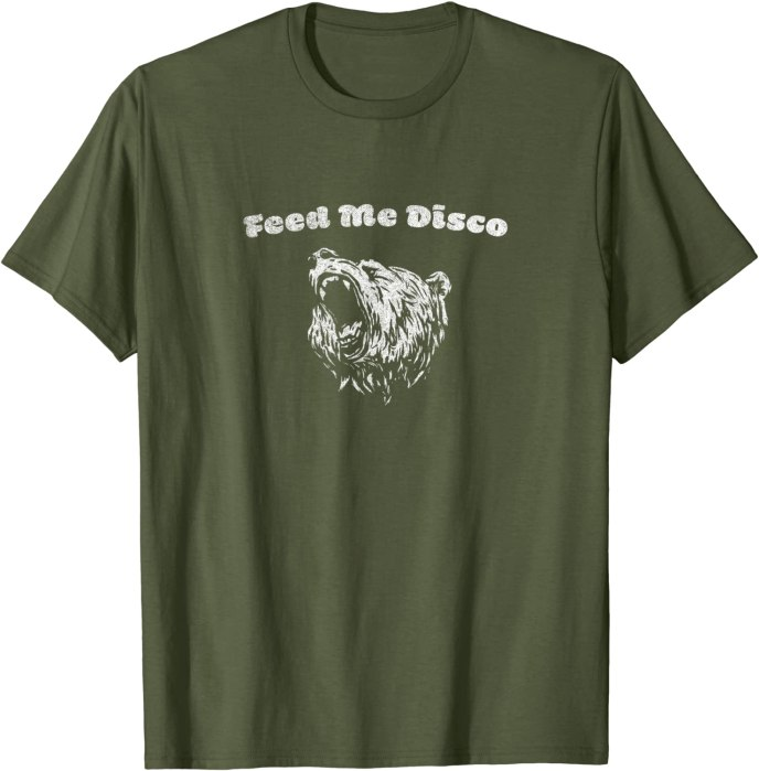 """Retro """"Feed Me Disco"""" Roaring Bear Turbo Volcano T-Shirt"""