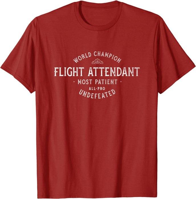 Retro World Champion Flight Attendant Most Patient All-Pro T-Shirt