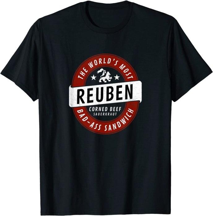 """Retro Reuben """"World's Most Bad-Ass Sandwich"""" T-Shirt"""