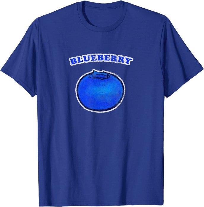 Retro Vintage Blueberry by Turbo Volcano T-Shirt