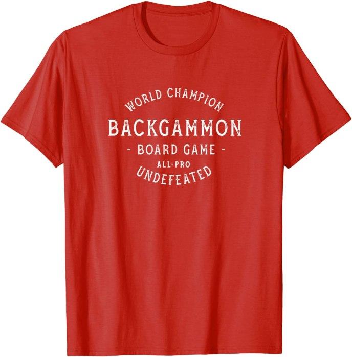 Retro World Champion Backgammon T-Shirt