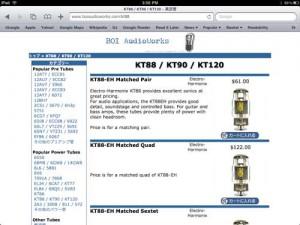 iPad でも見れる、BOI AudioWorks 真空管通販サイト