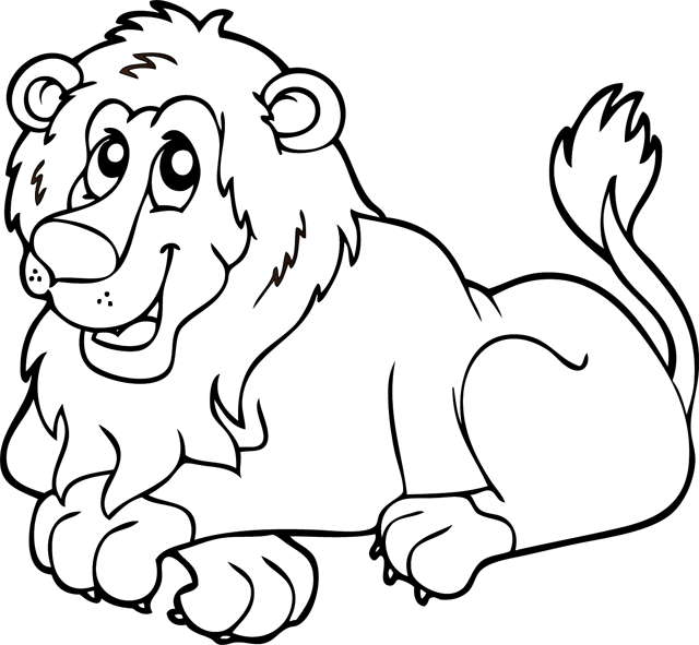 cute baby lion colouring pages