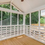 Screened porch after