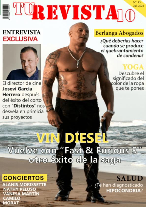 """VIN DIESEL ha obtenido un gran éxito con """"Fast & Furious 9"""". No te pierdas la entrevista al director valenciano JOSEVI GARCÍA que nos cuenta entre otras cosas, sus próximos proyectos."""