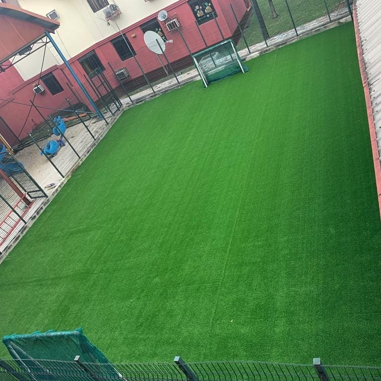 Dayspring Int'l School 2nd Football pitch - Installation on going