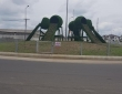 T&G artificial Grass used by RVSG for Trans-Amadi Roundabout beautification