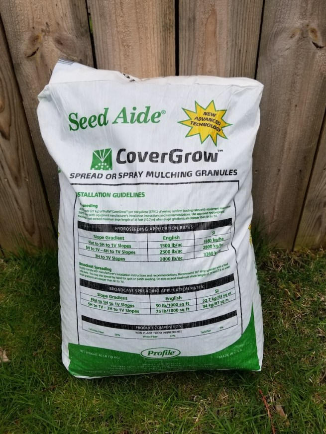 A bag of Seed Aide: Starter Mulch