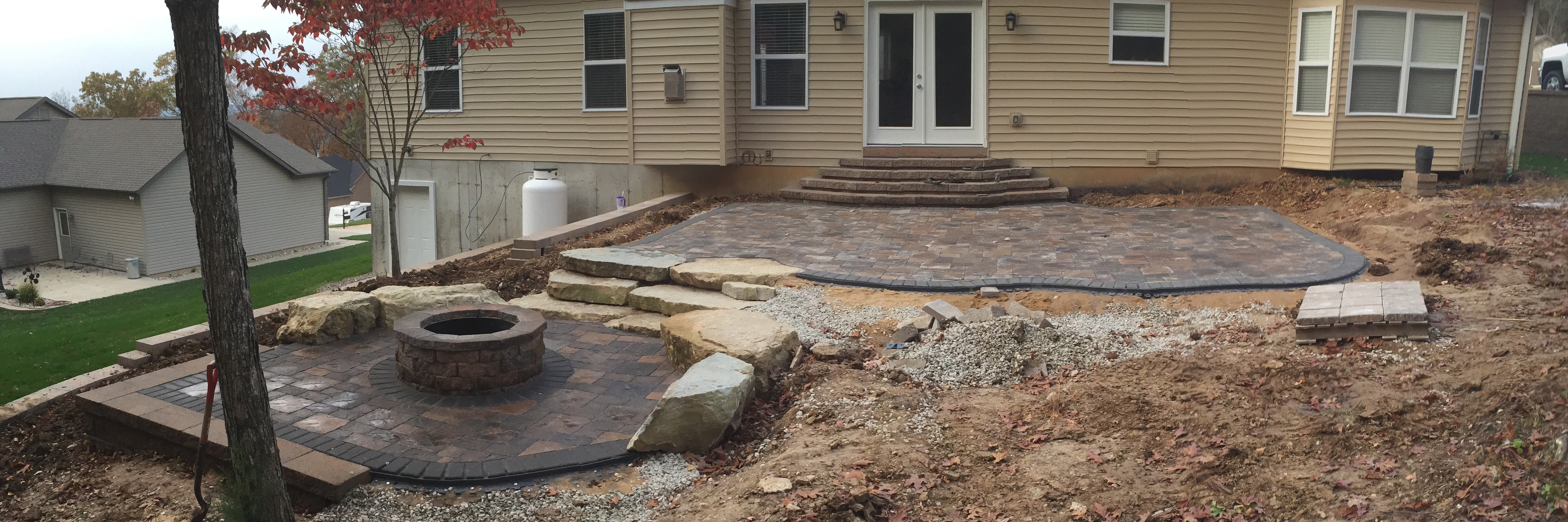landcape design retaining walls paver patios