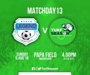 TURF DAY- legend fc - aug5