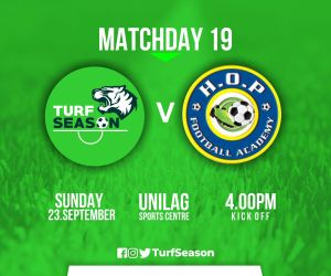 TURF DAY - hop academy - matchday 19 - sept 23