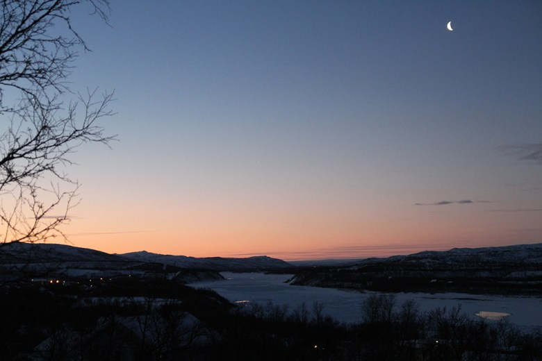 Utsikt mot Skiippagurra-stryket klokken 08:45
