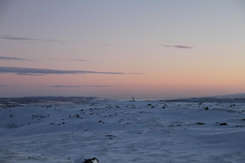 Utsikt utover Varangerfjorden fra Oscarsvarden