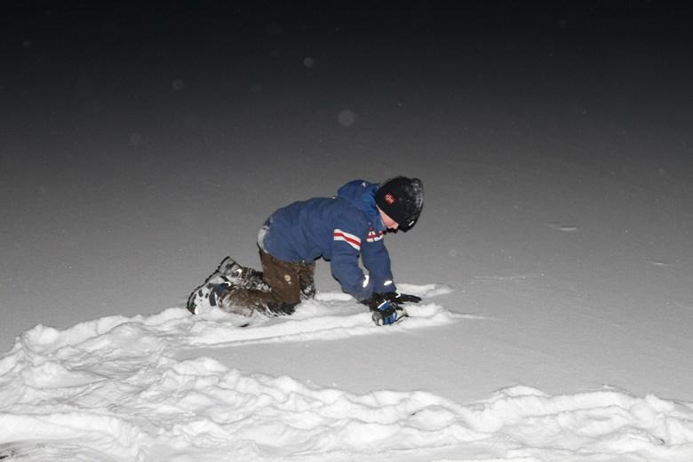 Vi leker på isen