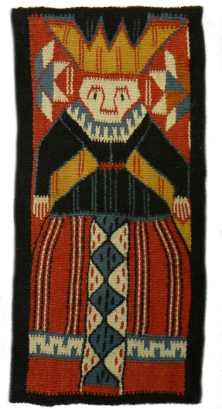 "Norwegian Woman. Wool. 14""x5"". Made during study in Norway."