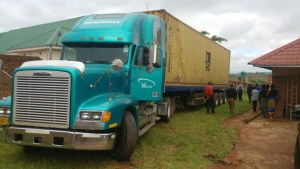 Container arrives at Centre for Youth and Development in Malawi.
