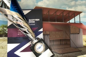 Scottish Edge trophy with drawing of SolarBerry