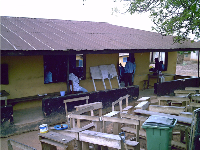 Old ICCES in Jakobu with a single classroom