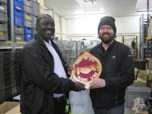Edmund Pinto presents Ross Cockburn of Reusing IT with a plaque