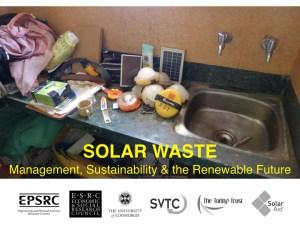 James Turing runs solar waste conference in Nairobi, Kenya
